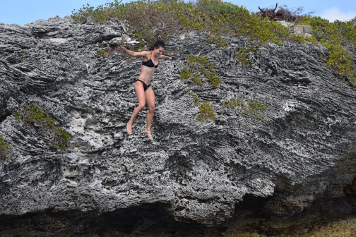 Jumping at Diving Board Island