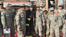 Meeting Military Firefighters at Al Udeid Air Base, Qatar