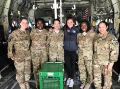 All female Medevac team at Bagram Air Base, Afghanistan