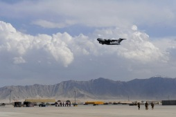 Landing at Bagram Air Base, Afghanistan