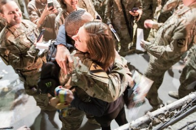 Meeting troops in Bagram, Afghanistan