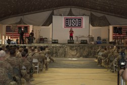 USO Show at Bagram Air Base, Afghanistan